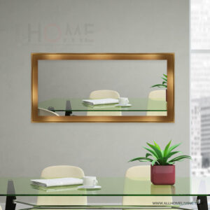 Gold Frame Long Wall Mirror