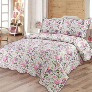 floral quilted bedspread
