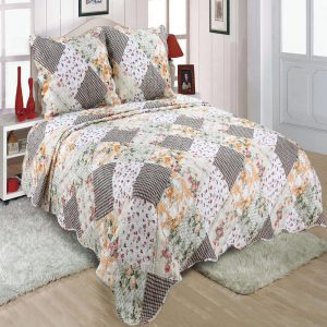 Patchwork Printed Chintz Bedspread