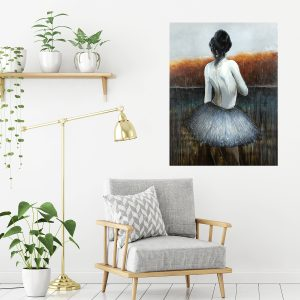 Women Gazing Wall Painting Metal