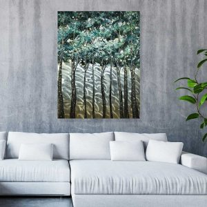 Trees Metal Wall Painting