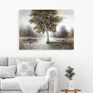 Full Bloom Tree Wall Painting