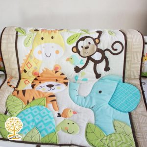 colorful jungle baby play mat cum comforter