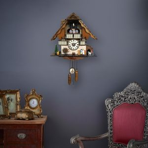 cuckoo clock with couple figure
