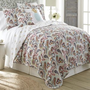 Paisley Cotton Bedspread Reversible