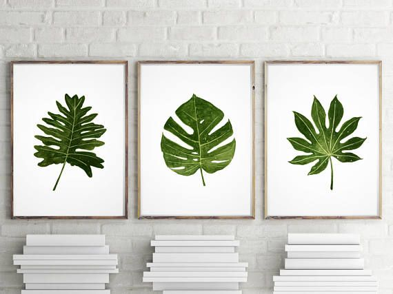 Monstera leaf art for balcony