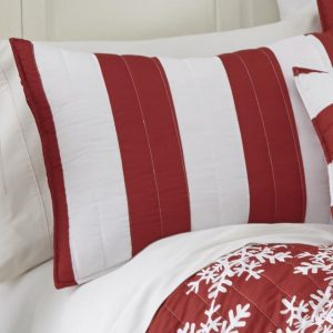 Red stripes cotton quilt