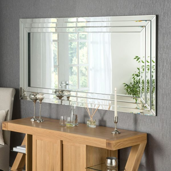 contemporary rectangle wall mirror sicily style