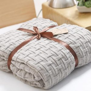 Light Grey Woollen Throw