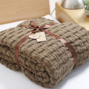 Light Brown Woollen Throw