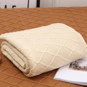 Cream Luxury Wool Throw