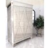 European Style Venetian Wardrobe Silver Edging