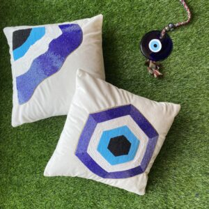 Hexagon and wavy designs of Evil Eye