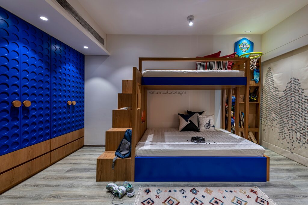 Boys Bedroom with sporty decor